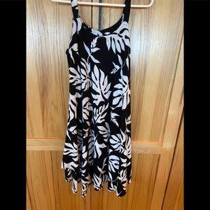 Black & White Floral Swim CoverUp